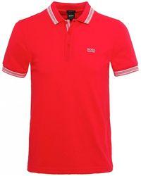 BOSS - Regular Fit Paddy Polo Shirt - Lyst