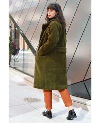 Parka London - Parka Alma Olive Coat - Lyst