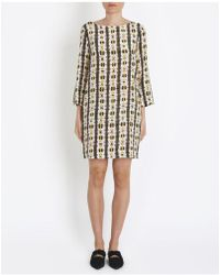 Momoní - Geometric Print Piperita Dress In Multicolour - Lyst