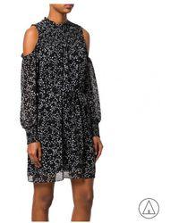 MICHAEL Michael Kors - Michael Kors Printed Dress In Black - Lyst