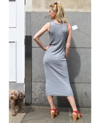 Lee Jeans - Jersey Sharp Grey Melange Dress - Lyst