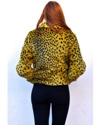Parka London - Parka Ballina Golden Palm Leopard Jacket - Lyst