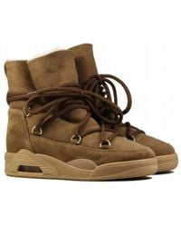Serafini - Moon Boots Suede Tan - Lyst