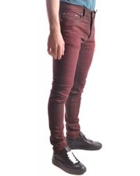 DIESEL - Men's Mcbi326040o Burgundy Cotton Jeans - Lyst