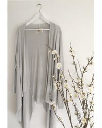 A Postcard From Brighton - Fable Waterfall Cardi Grey White - Lyst