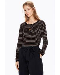Maison Scotch - Striped Lurex Pullover - Lyst