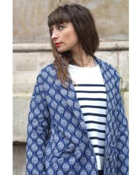 Suncoo - Eleanore Bleu Coat - Lyst