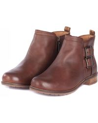 Barbour - Sarah Low Buckle Boots - Lyst