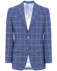 Jules B - Houndstooth Check Wool Jacket - Lyst