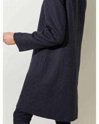 Great Plains - Collared Coat In Midnight - Lyst