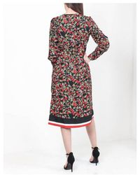 Dex - Long Sleeve Floral Wrap Dress - Lyst