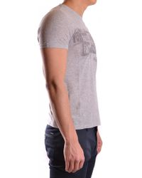 John Galliano - Men's Mcbi130103o Grey Cotton T-shirt - Lyst