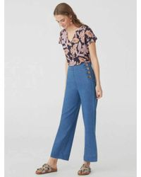 Nice Things - Big Flower Jersey T-shirt In Navy And Lilac - Lyst