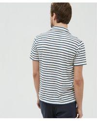 Hartford - Polo Shirt In Raw & Navy Stripes - Lyst