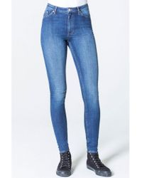Cheap Monday - High Skin Blue Blue Jeans - Lyst