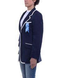 The Gigi - Blazer In Blue - Lyst