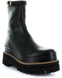 Paloma Barceló - Paloma Barceló Black Leather Platform Boot - Lyst