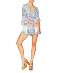 Camilla - Low V Neck Playsuit - Lyst