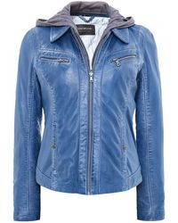 Oakwood - Inner Hooded Leather Jacket - Lyst