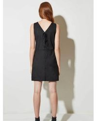 Great Plains - Suedette Dress In Black - Lyst