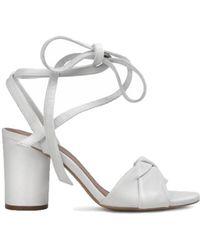 Hudson Jeans - Hudson Figi Tie Strap Heel In White - Lyst