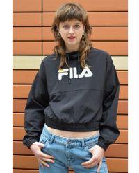 Fila - Elsie Retro Funnel Track Black Top - Lyst