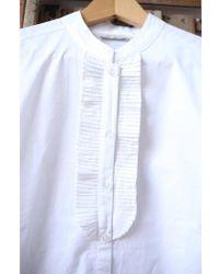 Mes Demoiselles - Mozart White Pleated Shirt - Lyst