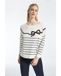 Weekend by Maxmara - Weekend Maxmara Curzio Silk And Cotton Striped Sweater - Lyst