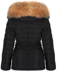 FROCCELLA - Women's Mid Belted Down Coat - Lyst