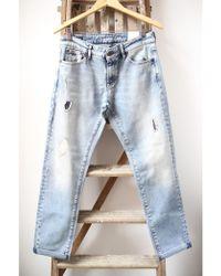 Denham - Monroe Patch Detail Girlfriend Jeans - Lyst