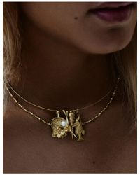 Anna + Nina - Fish Necklace Charm - Lyst