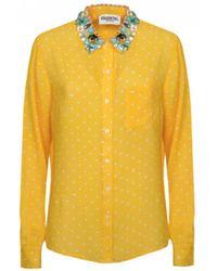 Essentiel - Proud Embellished Collar Shirt - Lyst
