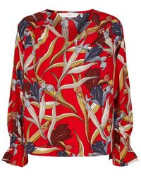 Numph - Fife Blouse Chinese Red - Lyst