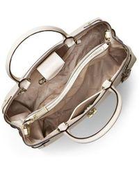 MICHAEL Michael Kors - Michael Kors Gramercy Light Cream Large Satchel Bag - Lyst