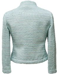 Boutique Moschino - Blue Boucle Tweed Jacket - Lyst