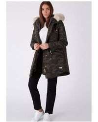 Parka London - Caversham Faux Fur Lined Parka - Lyst