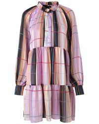 Stine Goya - Jasmine Ruffle Dress Illusion Print - Lyst