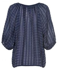 Part Two - Manja Navy Blouse - Lyst