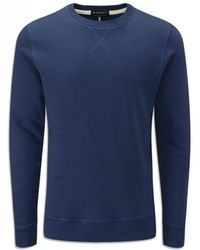 Gloverall - Crew Sweatshirt Navy - Lyst