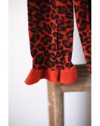 Scotch & Soda - Cashmere Blend Stone Red Leopard Jumper - Lyst