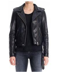 Denham - Tundra Leather Biker - Lyst