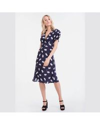 Lily and Lionel - Navy Lotus Ruby Dress - Lyst