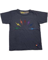 Aviator Nation - Rainbow Bolt Cotton Tee - Lyst