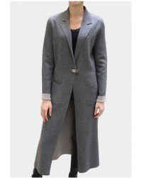 D. EXTERIOR - Longline Grey Reversible Coat 45022 - Lyst