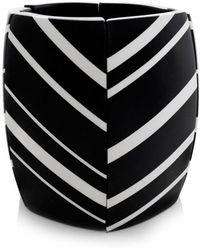 Monies - Striped Ebony Cuff Bracelet - Lyst
