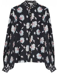 Lily and Lionel - Maddox Textured Silk Shirt - Lyst