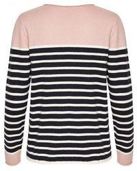 Part Two - Mosta Pink Stripe Knit - Lyst