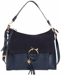 See By Chloé - See By Chloé • Joan Medium Shoulder Bag In Blue - Lyst