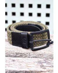 Lee Jeans - Braided Webbing Military Green Belt - Lyst
