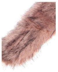 L'Autre Chose - Pink Eco-fur Stole - Lyst